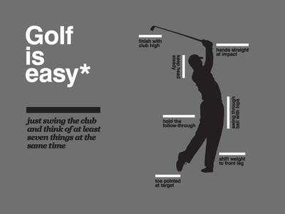 Golf is easy golf sports helvetica illustration typography