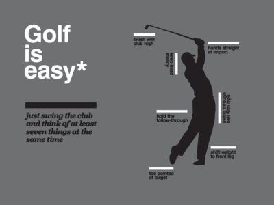Golf is easy
