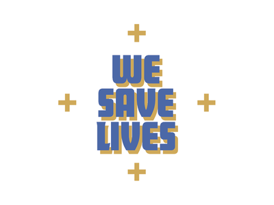We Save Lives print magazine typography nantucket
