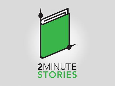 Two Minute Stories icon branding logo