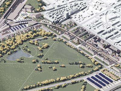 Perth Creative Commons modular render isometric design community affordable housing urban planning urban design architecture