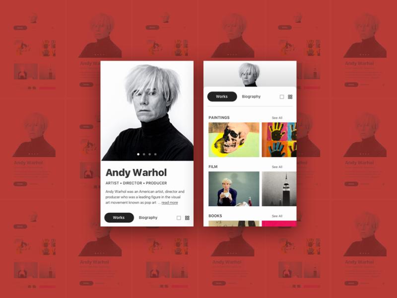 User Profile - Daily UI mobile user profile artist art pop ui daily