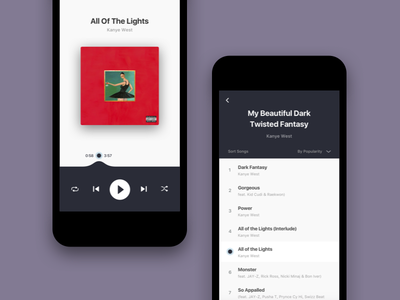 Visual exploration for Music Player