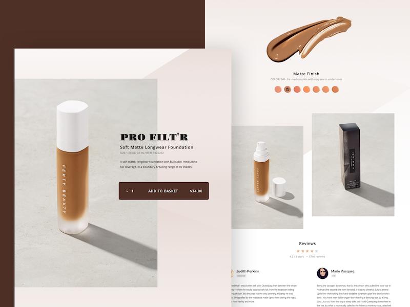 E-commerce beauty shop design ux ui store shop product web beauty ecommerce