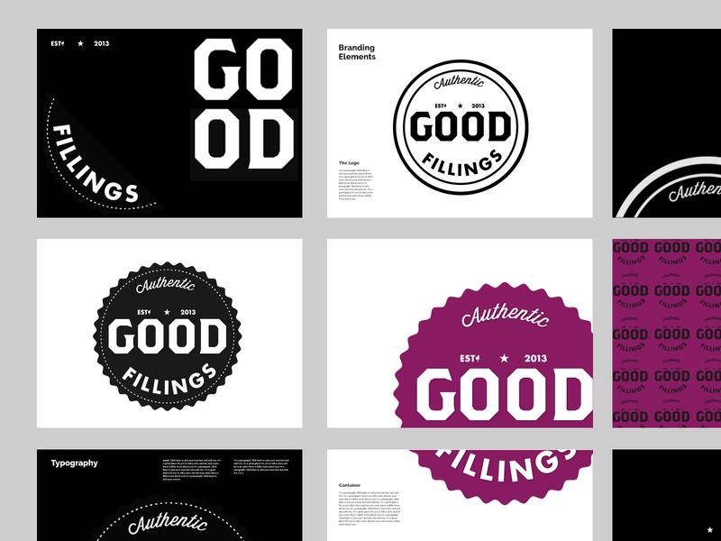 Brand Exploration: Good Fillings flat design typography logo branding