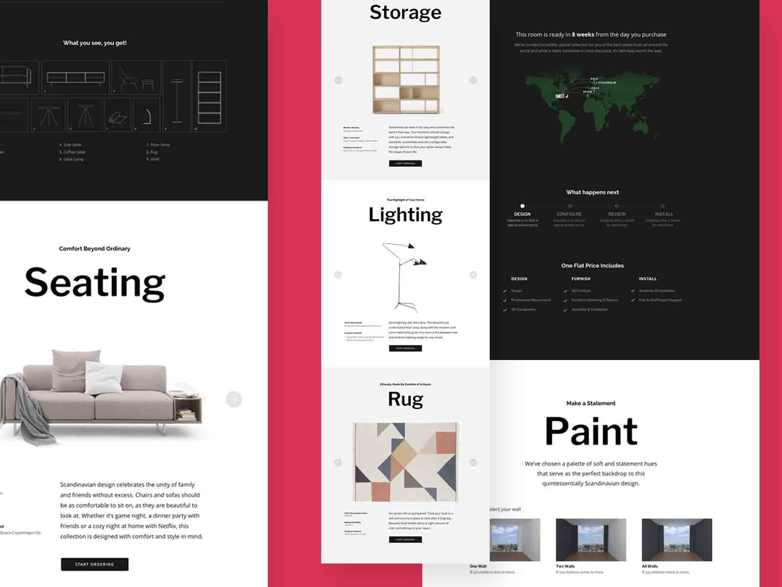 Sheltah interior decorating website by John Yue on Dribbble