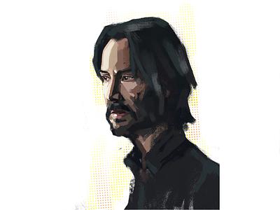 Keanu Reeves color concept john wick keanu reeves comic portrait painting illustration art design art illustration adobe abstract art digitalart