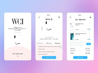 WeCaseIt phone case case branding trending figma design mobile app design figma design ui