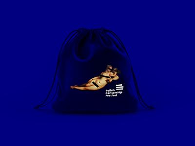 Polish Censorship Festival (Festiwal Polskiej Cenzury) cenzura polska bag polish poland censured censorship censure branding design logo