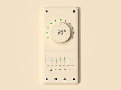 A/C app application app appdesign neumorphical neumorphic neumorphism ui ux design