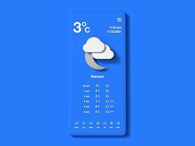 Weather minimal interface skeumorphism skeuomorph neumorphic neumorphism neumorphical uxui design uxui ui ux app weather app weather