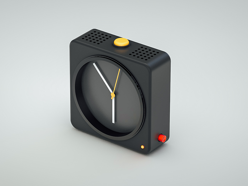 clock dieter rams inspired by frank j guzzone. Black Bedroom Furniture Sets. Home Design Ideas