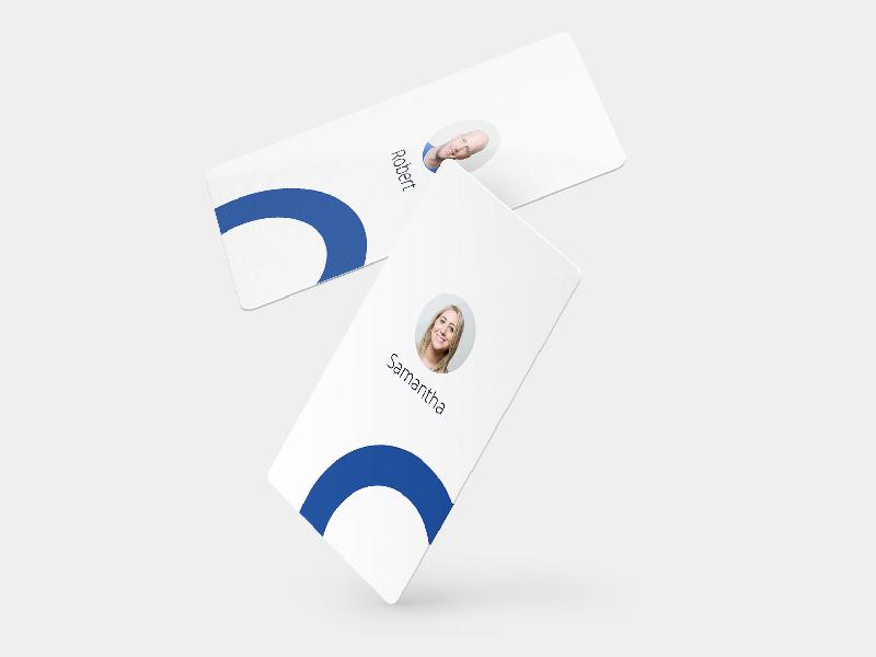 Oscar Employee Badges app 3d stationary product mockup id health design card branding