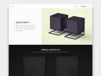 Block Party Speaker (Concept) landing page octane speaker product design website ui model cinema c4d 3d
