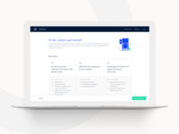 Small Group Enrollment ui application welcome onboarding dashboard