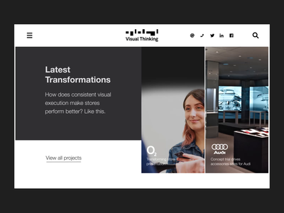 Visual Thinking Exploration experience shopping retail visual design minimal website flat animation web typography branding design ui