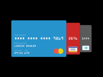Daily UI 002 - Credit Card Checkout credit cards dailyui checkout card 002 ui daily