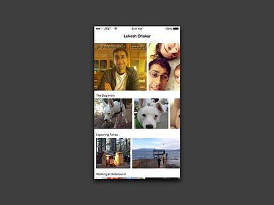 Daily UI 006 - User Profile daily ui photos profile user 006 ui daily