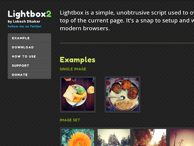 Lightbox2 page redesign