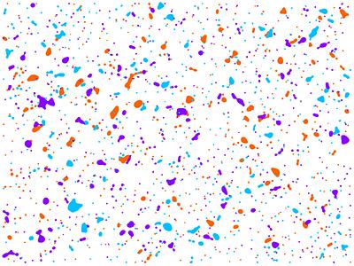 Splatter paint splatter generative algorithmic art