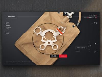 Melontools product design layout web melontools dark merch shop