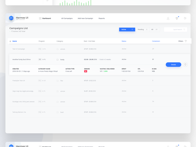 Campaigns Monitor ecommerce ui app light layout design web