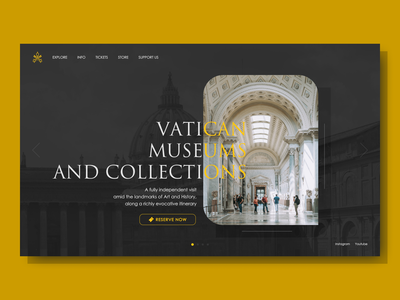 Vatican Museums redesign design website design rome vatican museum website ui design ui web design web