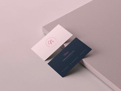 Business card for a beauty salon. dtp print mockup brand idenity card beauty branding design logo mark logo branding minimal ux business cards design minimalist graphic design ui business card
