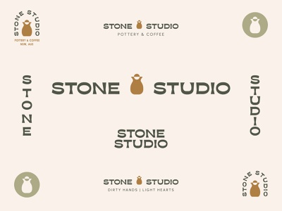 Stone Studio — Branding and Logo Design branding modern typography lockups visual identity graphic design logo design logo