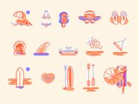 Surf Expo — Icon Set
