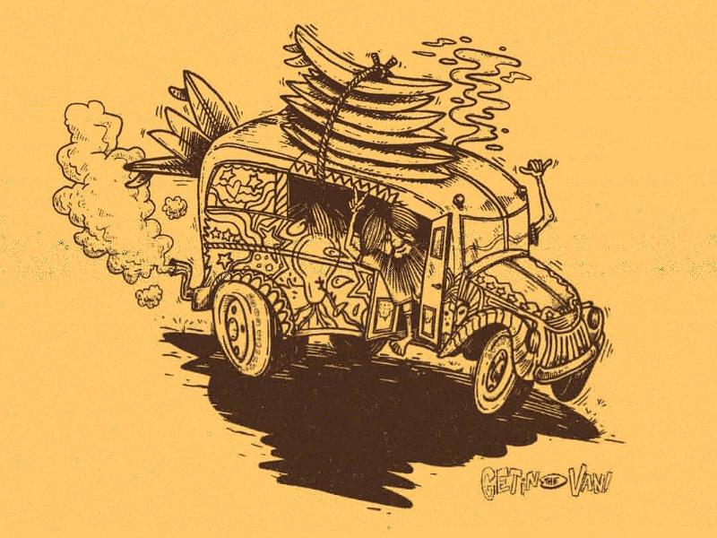 Get in the van! T-Shirt Graphic for Surfer Magazine tshirt illustration surf van