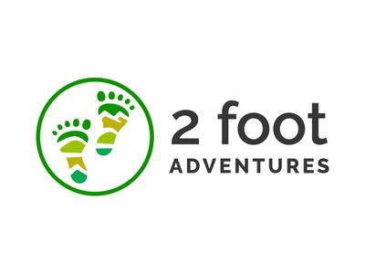 Final Logo for 2 Foot Adventures