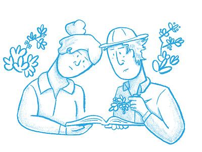 Berry Hunters berry cartoon safari blue character design characters pencil shading line art