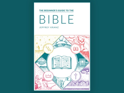 The Beginner's Guide To The Bible ebook cover ebook illustration bible book cover design book cover