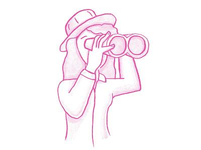 Buscandando algo o otro searching search looking for looking binoculars binocular