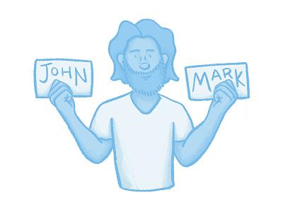 John Mark mark john name nametag texture shading sketch drawing