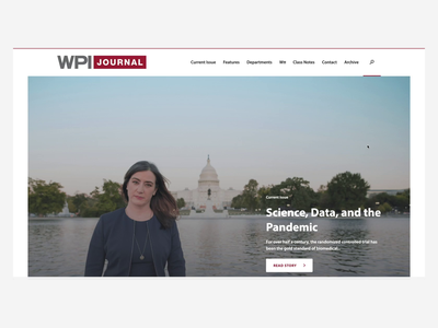 WPI Journal dark mode dark ui featured post cover issue university college ux ui website news journal