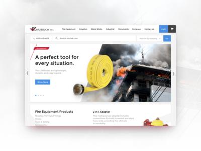 Kochek Web Concept kochek red white fire equipment web