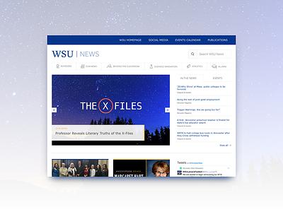 WSU News Site wsu worcester flat design news web