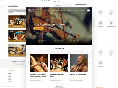 Music Festival Site school college education hero slider bowdoin webdesign web music festival music