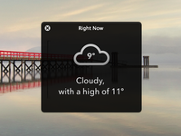 Right Now - Quick weather panel for OS X