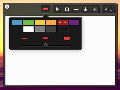 v0.1 os x mac ui interface design app application annotate markup dark ui share cloudapp