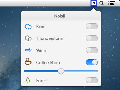 Noisli For Mac (Concept)