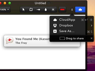 Annotate for Mac - Sharing Integrations os x mac annotate share cloudapp sharing dropbox drag and drop ui interface design