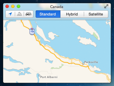 OS X 10.10 Maps.app  (Concept)