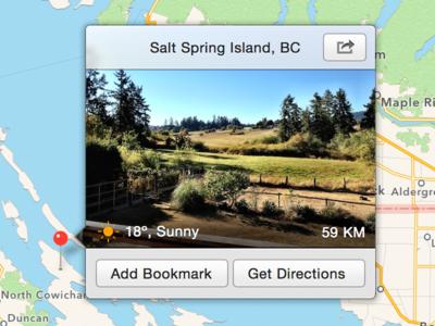 OS X 10.10 Maps.app Detail View (Concept)