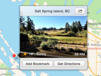 OS X 10.10 Maps.app Detail View (Concept)