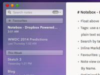 Notebox for Mac Progress (OS X 10.10 Concept)