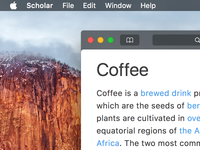 Scholar - A Wikipedia Reader for Mac (Concept)