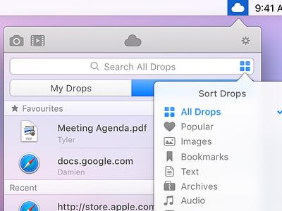 CloudApp for Yosemite macos ui interface design desktop mac